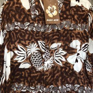 mango moon Shirts - Brand New Vintage Aloha Shirt Kiana Tom Actor Dad
